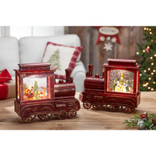 Musical Train with Holiday Scene Water Globe