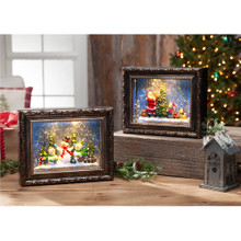Frame with Holiday Scene Water Globe