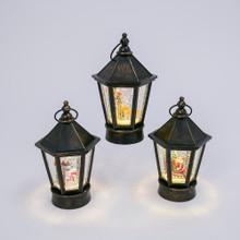 Musical Black Vintage Lantern Water Globe