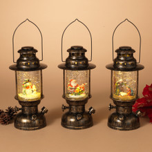 Vintage Style Lantern with Holiday Scene