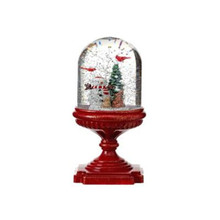 LED B/O Snowman Pedestal Water Globe with Timer