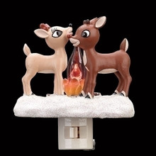 Rudolph and Clarice by Fire Flicker Flame Night Light