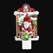 Santa by Fire Place Night Light