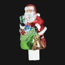 Santa with Present Bag Night Light