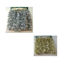15ft Silver / Gold Tinsel Garland