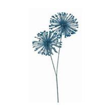 Ice Blue Glitter Sequin Double Starburst Ball Spray #MTX56761
