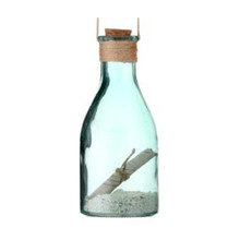 Glass Message in a Bottle Ornament #MTX59786
