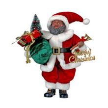 Black Santa with Velvet and Fur Suit #MTX59836