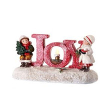 Frosted LED Joy Candle with Kids #MTX60850