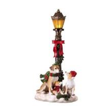 Dogs Under Lamp Post Figurine #MTX60991