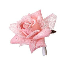 Pink Frosted Rose Clip #MTX61439