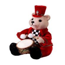 Velvet Harlequin Bear Playing Drum #MTX61774