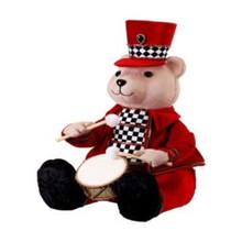 Velvet Harlequin Bear Playing Drum #MTX61775