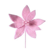 Sugared Cotton Candy Poinsettia Stem #MTX62032