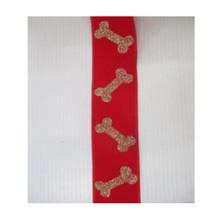 Glitter Bone Velvet Wired Ribbon #MTX62919
