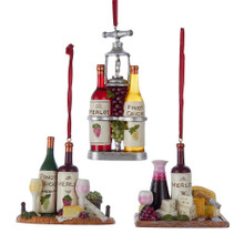 Kurt Adler Wine & Cheese Tray Ornament #C6759