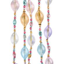 Kurt Adler 5ft Glass Pastel Jewel Garland #D3662