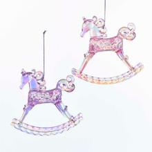 Kurt Adler Sugar Plum Rocking Horse Ornament #T2110