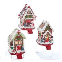 Kurt Adler Gingerbread Candy House Stocking Hanger #D2866