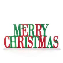 Kurt Adler Glittered Merry Christmas Table Piece #G0143