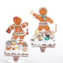 Kurt Adler Gingerbread Boy / Girl Stocking Holder #H0556