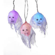 Kurt Adler 10L Color Changing Skull Light Set #HW1732