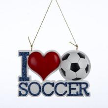 Kurt Adler I Love Soccer Ornament #A1058