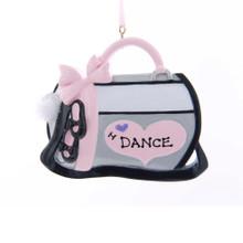Kurt Adler I Love Dance Bag Ornament #W8400