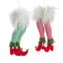 Kurt Adler Stuffed Elf Feet Ornament #J8572