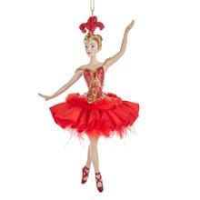 Kurt Adler Fire Bird Ballerina Ornament #E0315