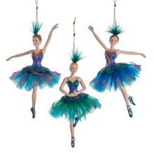Kurt Adler Peacock Ballerina Ornament #C9272