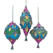 Kurt Adler Peacock Ball / Finial / Onion Ornament #S4390