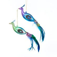 Kurt Adler Glass Peacock Ornament #TD1616
