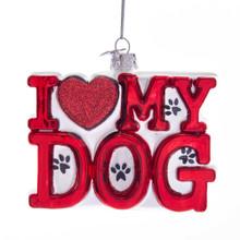 Kurt Adler I Love My Dog Ornament #C7576