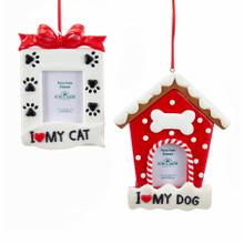 Kurt Adler Dog / Cat Picture Frame Ornament #D3163