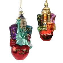 Kurt Adler Glass New York City Cityscape Ornament #C4108
