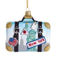 Kurt Adler Noble Gems New York Suitcase Ornament #NB1438