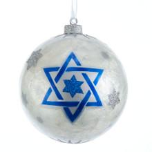 Kurt Adler Capiz Hanukkah Ball Ornament #S3980