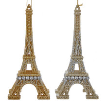 Kurt Adler Gold / Silver Eiffel Tower Ornament #T2107