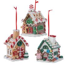 Kurt Adler LED Gingerbread House Ornament #D1477