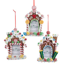 Kurt Adler Candy Photo Frame Ornament #D2007