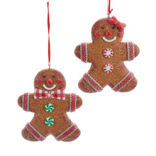 Kurt Adler Gingerbread Boy / Girl Cookie Ornament #D3625