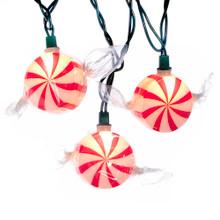 Kurt Adler 10L Peppermint Candy Light Set #UL0632
