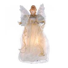 Kurt Adler Animated Gold & Ivory Fiber Optic Angel Tree Top #UL2173