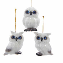 Kurt Adler Plush White Owl Ornament #C4673