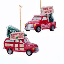 Kurt Adler Cozy Cottage Truck Ornament #D3509
