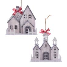Kurt Adler Wood White House Ornament #D3665