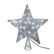 Kurt Adler 45L LED Silver Star Tree Top #JEL0317