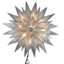 Kurt Adler 10L Silver Sunburst Capiz Star Tree Top #UL3044