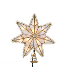 Kurt Adler 10L Capiz Star with Gem Center Tree Top #UL3139